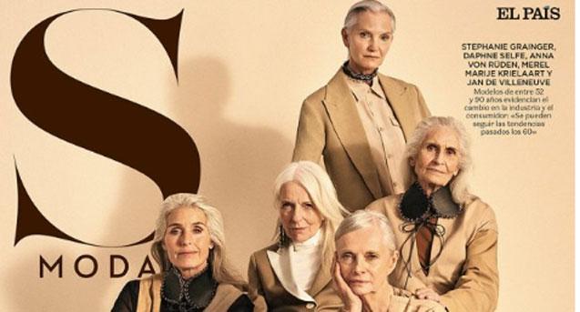 Mujeres mayores en la pasarela