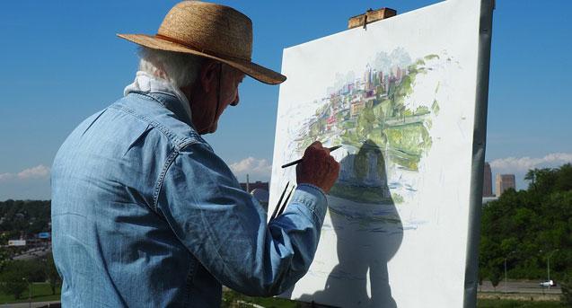 Un artista que pinta despacio